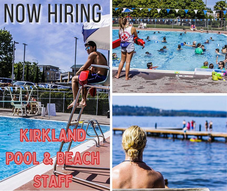 Kirkland Aquatics Hiring for 2021 Parks Programs