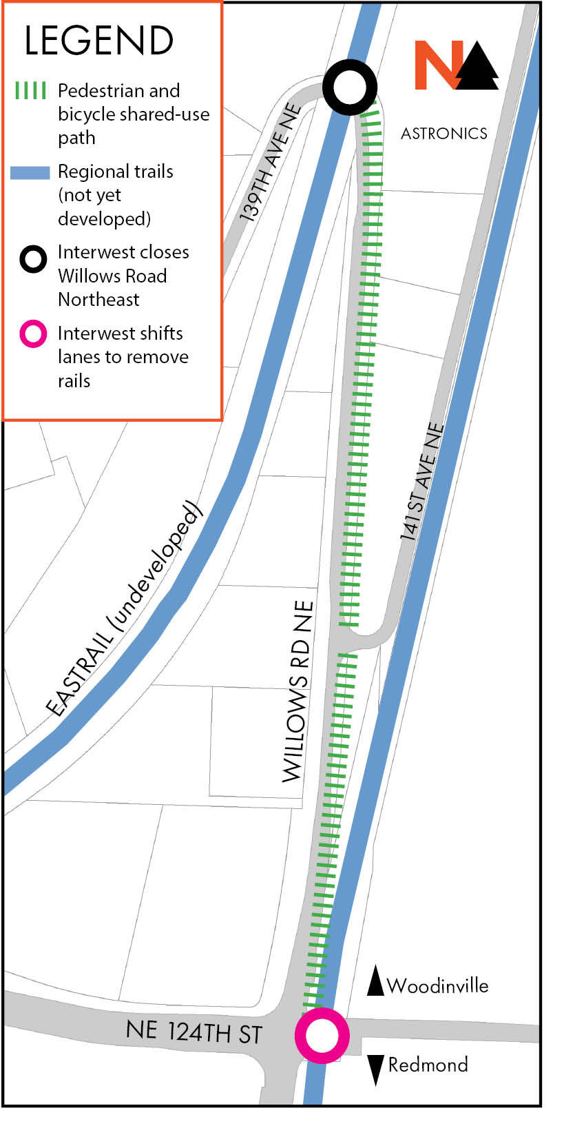 Map of Willows Night Closure