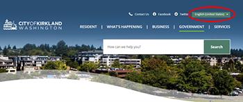 New Website for City of Kirkland