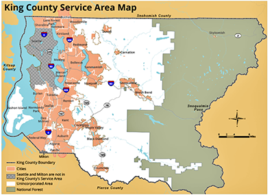 King County Service Area Map