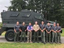 Commissioner Wolfe with SWAT