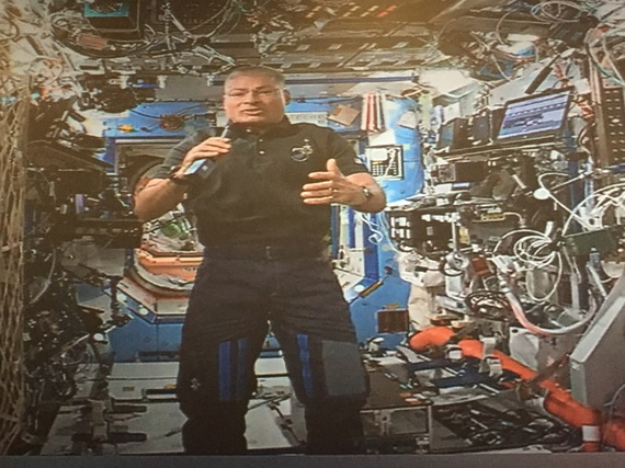 Mark Vande Hei, an astronaut on board the International Space Station
