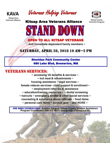 Stand Down April 2018