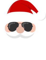 Santa in sunglasses