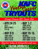 Kitsap Alliance Youth Soccer Tryouts May 2019