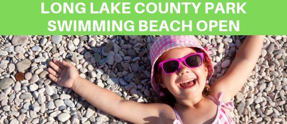 long lake beach reopened