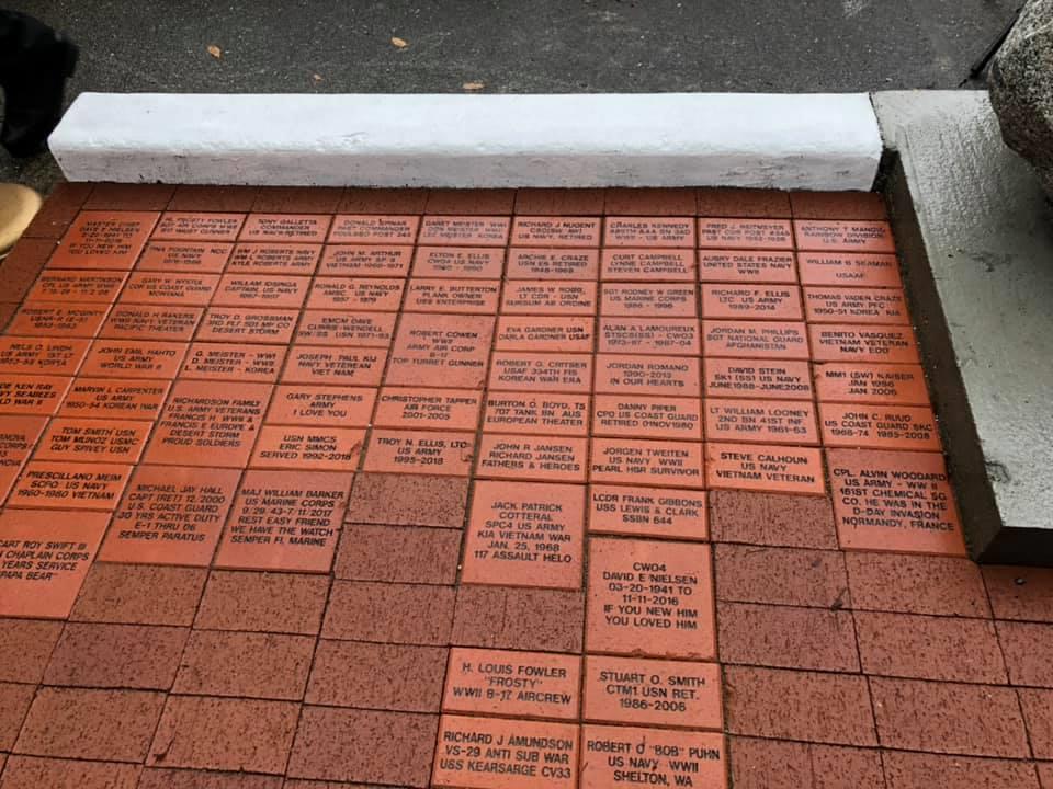 Bricks at Veterans Plaza at Poulsbo's American Legion Park