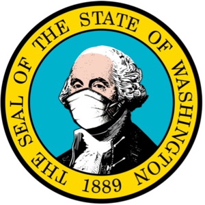 Washington State Seal with mask