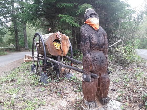 covid bigfoot in mask
