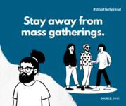 avoid mass gatherings
