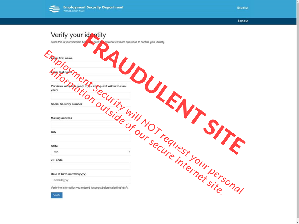 fraud ESD site