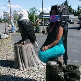 eagle and mermaid