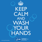keep calm wash hands