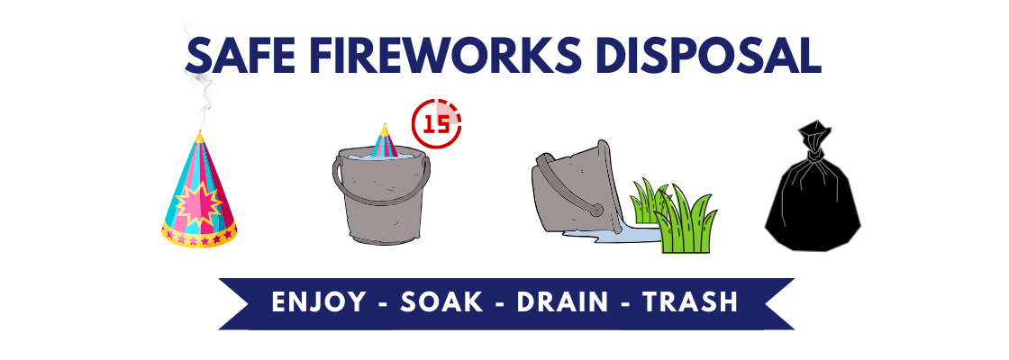 fireworks safe disposal instructions