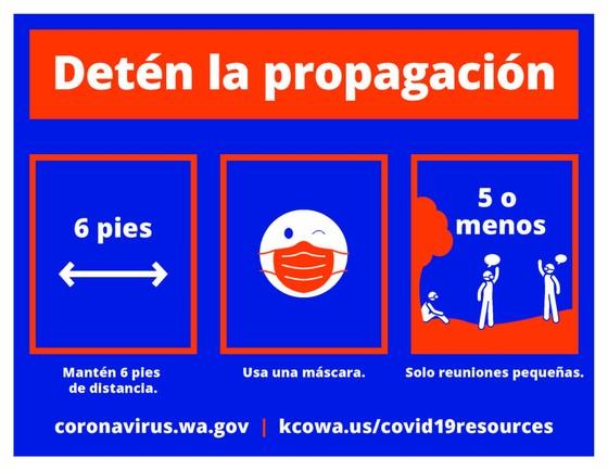 COVID-19 flyer Spanish