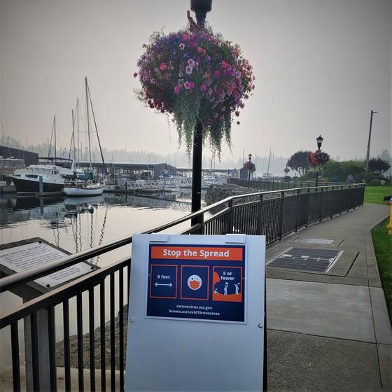 Port of Kingston sign