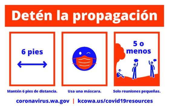 Stop the Spread Spanish