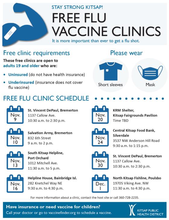 KPHD free flu clinics