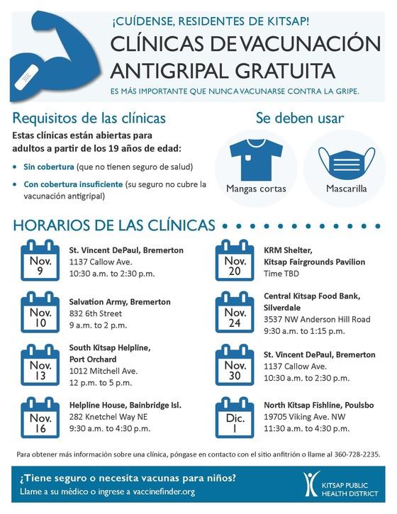 KPHD free flu vaccine clinics