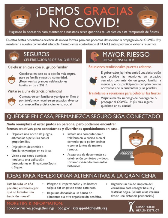 Thanksgiving flyer Spanish