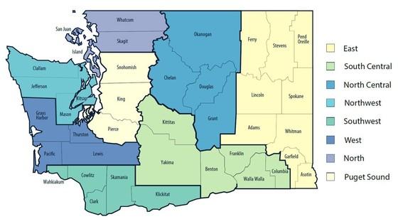 Healthy Washington map