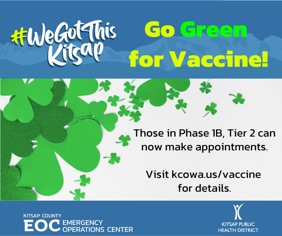 Go green for vaccine
