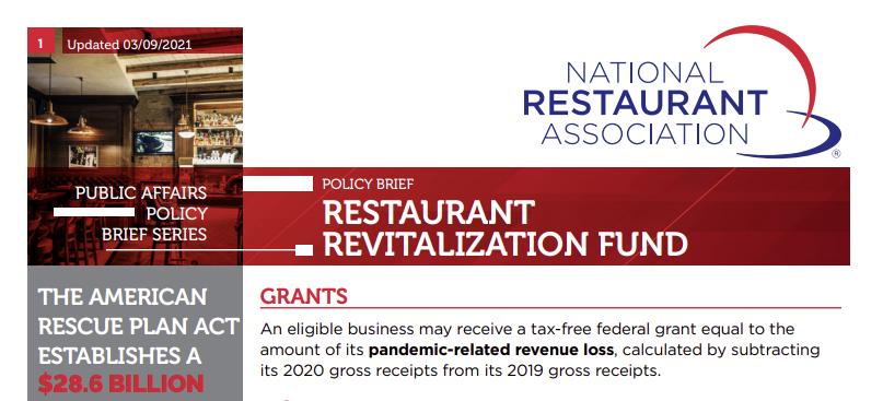 restaurant grants