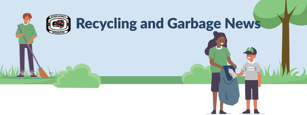 Recycling News Header with trees