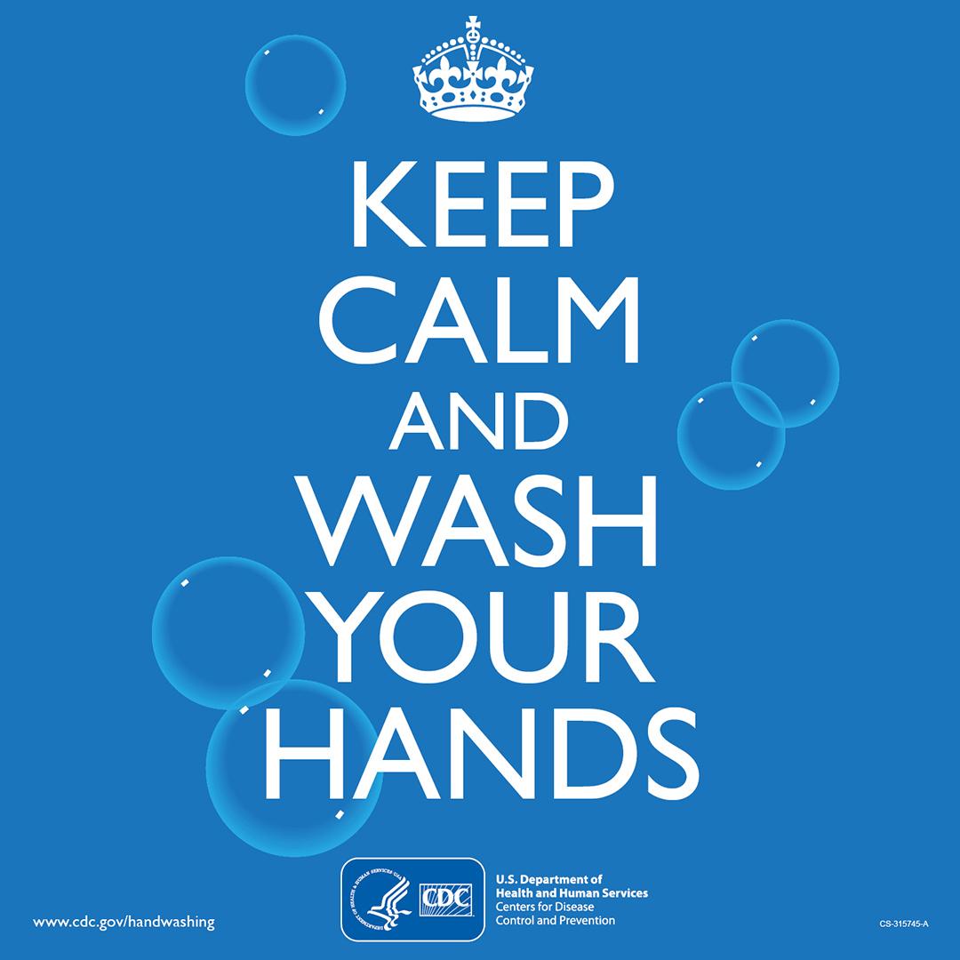 keep calm wash hands