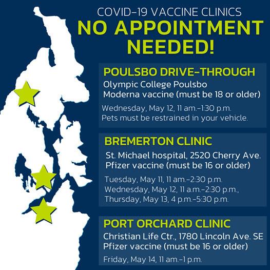 no appt needed vaccine