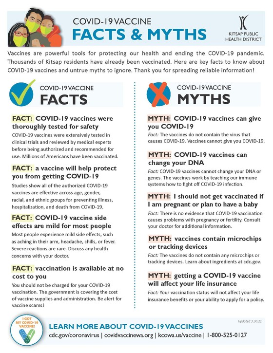 vaccine facts and myths