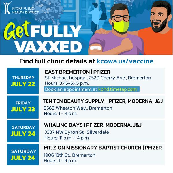 Vaccination Clinics - July21