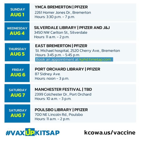 KPHD Vaccine Clinics - Part 2