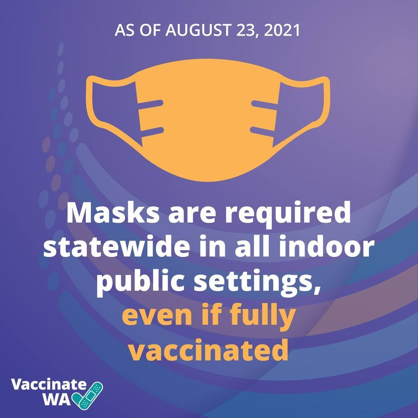 Masks required starting Aug 23