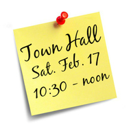 town hall post it
