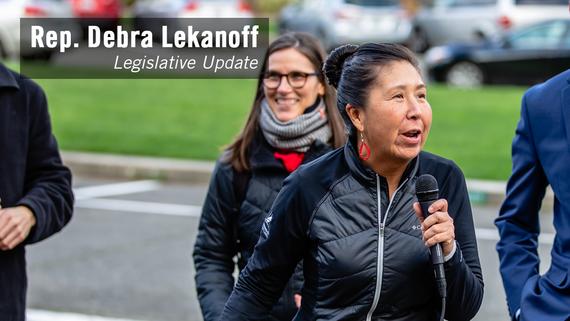 Rep. Debra Lekanoff's legislative video update graphic