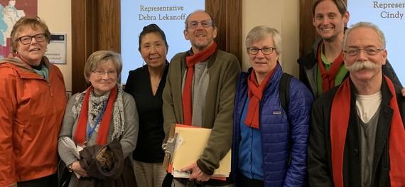 Rep. Debra Lekanoff and housing advocates
