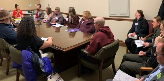 Rep. Debra Lekanoff meets with constituents