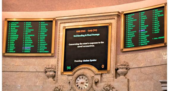 Coronaviorus funding bill board