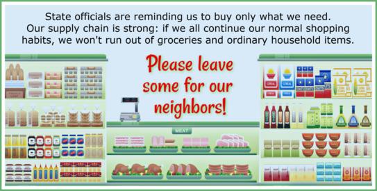 shop don't hoard