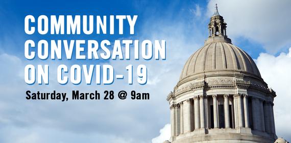 Community Conversation on COVID-19 graphic
