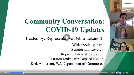 Community Conversation on COVID-19 presentation screengrab