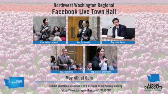 NW WA Virtual Town Hall announcement graphic