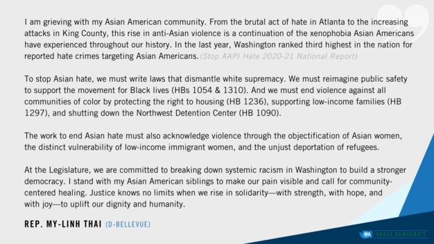 Anti-Asian violence Thai statement