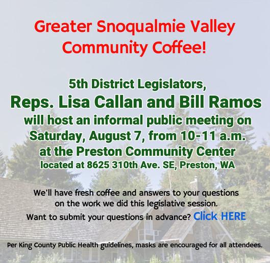 5th Community Coffee Aug 7