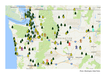 Map Of Washington State Parks Tidal Treasures - Map of washington state