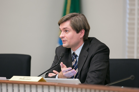 Pellicciotti during committee testimony