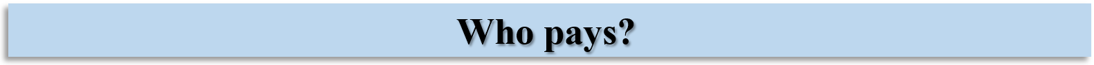 Who pays? banner