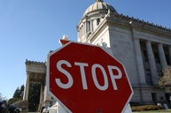 Stop sign Capitol