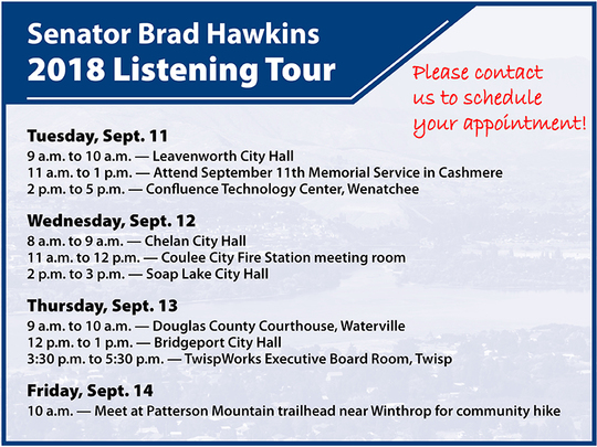 2018 listening tour dates, times and locations